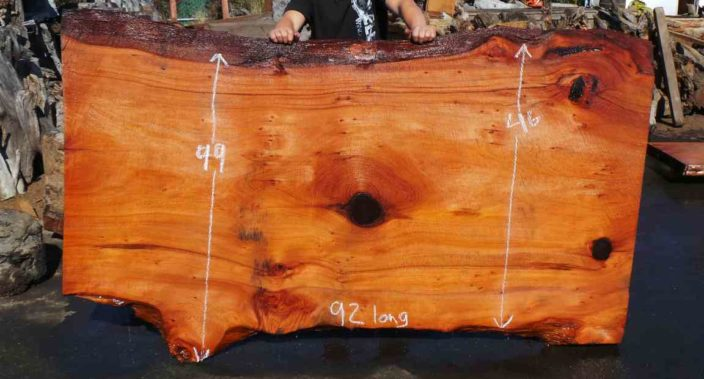 Rustic Dining Table Slab | Old Growth Redwood Slab