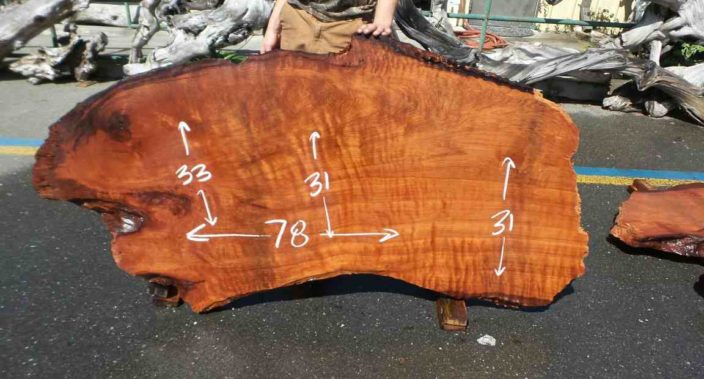 Burl wood slab for desk or table