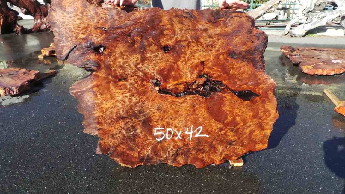 how to cut burl slabs