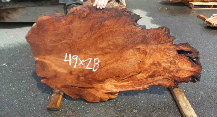 Burlwood Slab - Redwood Slab
