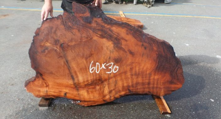 "SL-101 Old Growth Redwood Slab 60"" x 30"" x 3"""