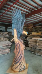 Bald Eagle Wood Carving by Jeff Samudosky