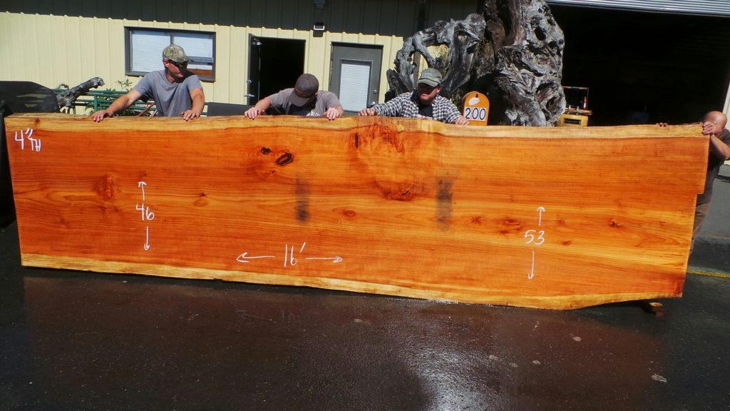 Old Growth Redwood Slab for rustic dining table