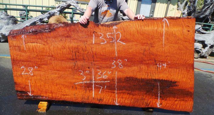 Redwood Slab for Rustic Kitchen Island