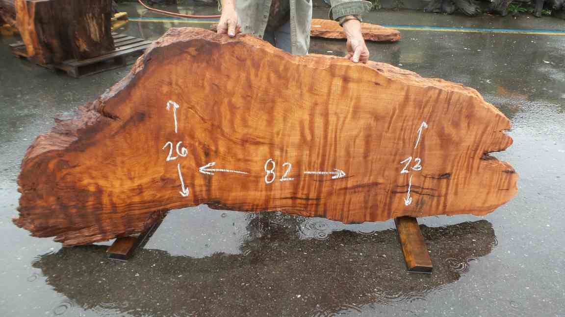 Highly figured burl slab for coffee table