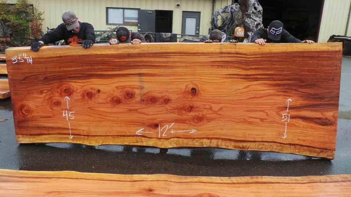Coastal Redwood Sequoia Slab - For Custom Wood Slab Tables