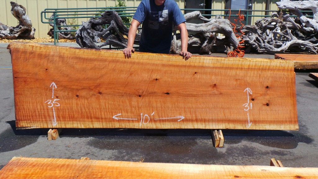 New Growth Redwood Slab for Rustic Counter Top