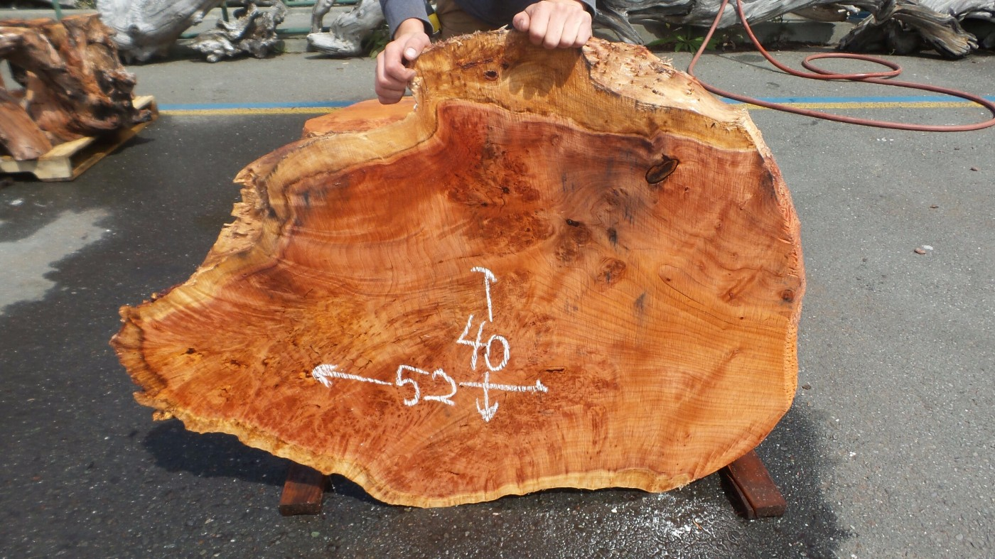 Figured Redwood Burl Slab