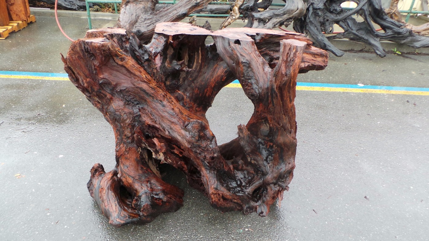Redwood Wood Cocktail Table Base for Events, Parties and Rustic Wedding Ideas