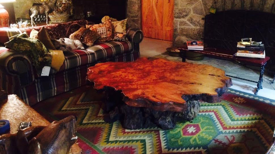 Redwood Slab Tables