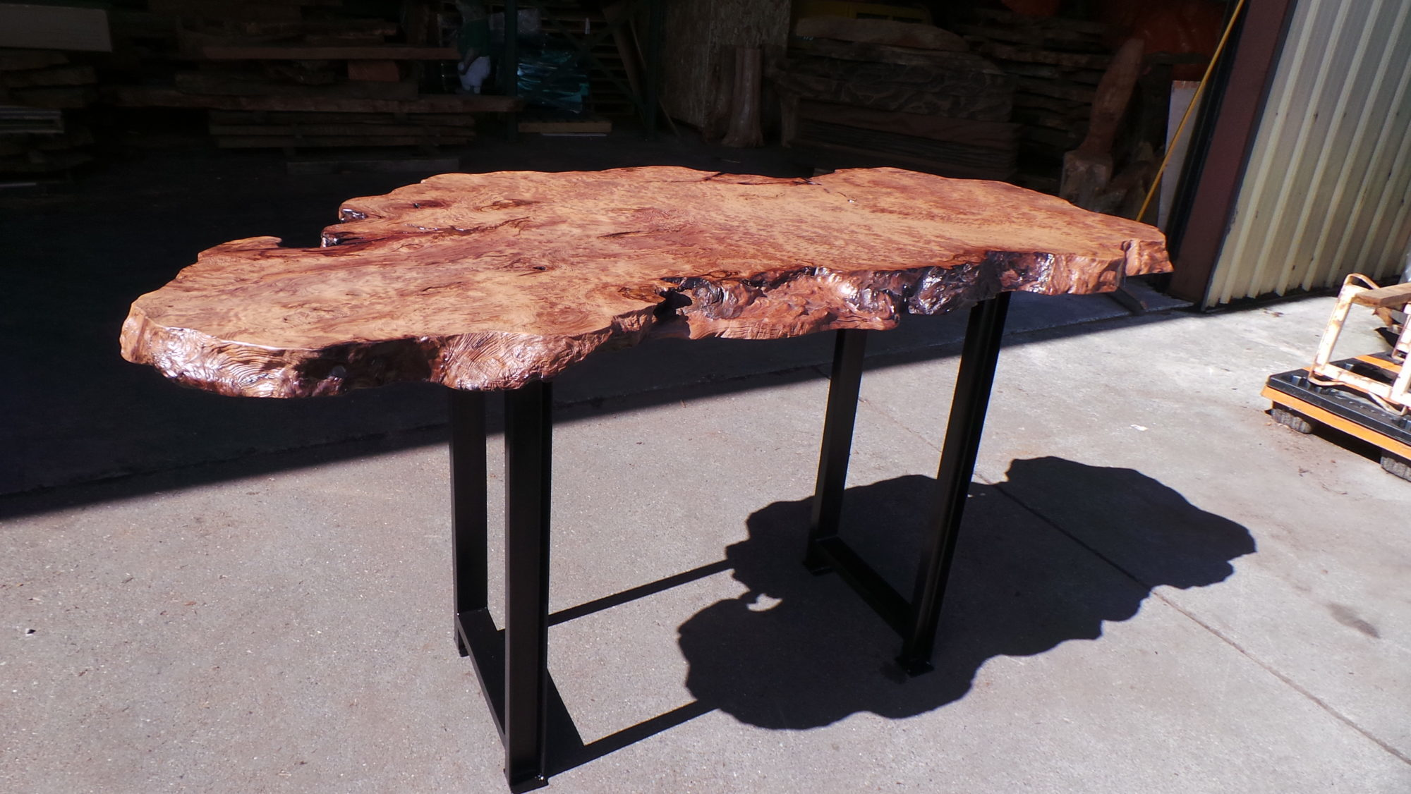 Custom Live Edge Burl Furniture