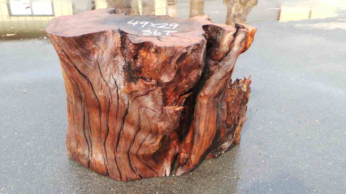 Rustic stump table base