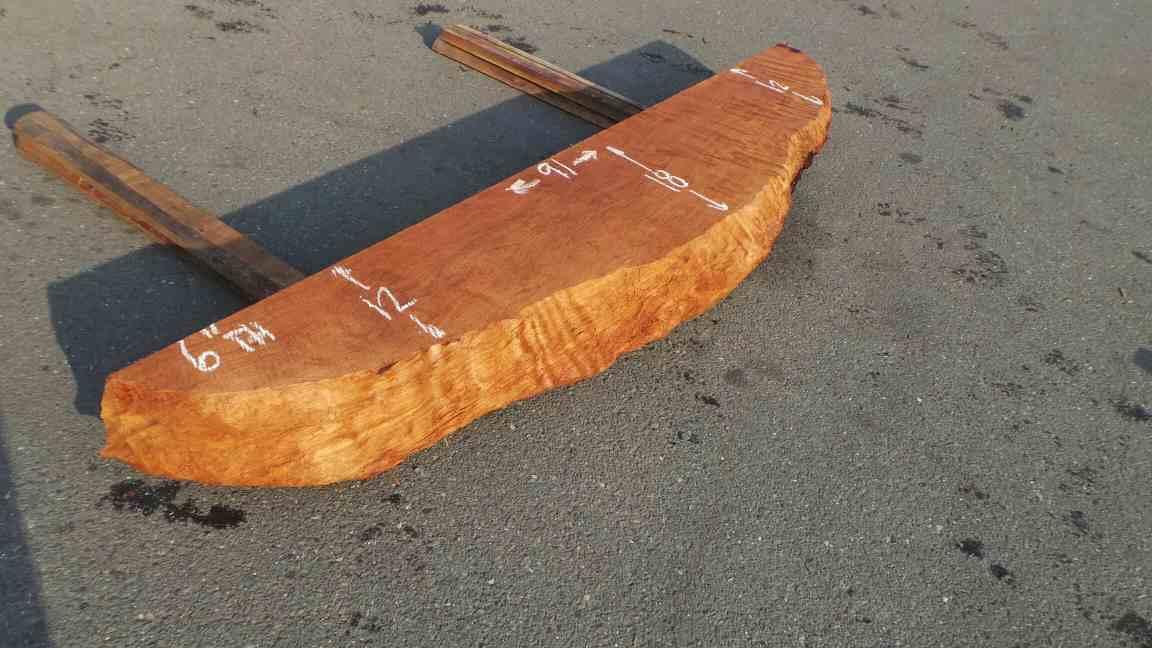 Carved Mantels for Sale - Smooth Carved Redwood Mantel