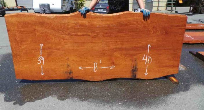 Burl wood dining table - old growth redwood