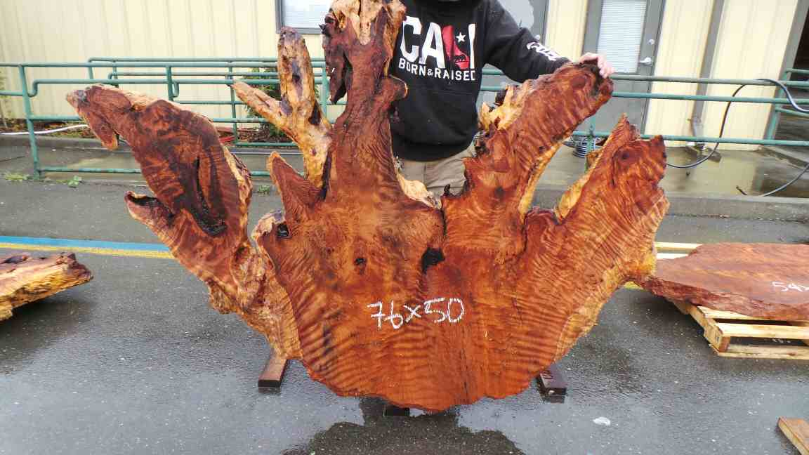 Raw Burl wood Bedroom Headboard - Live Edge King Size Rustic Beds
