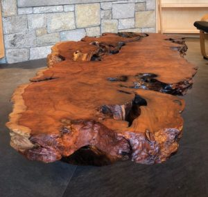 Tree Stump Table Stand - Redwood Tree Burl Coffee Table Stands and Bases